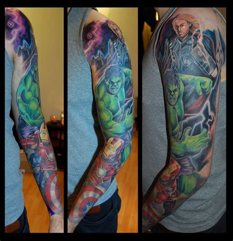 avengers tattoo sleeve sleeve www imgkid the image kid