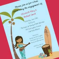 luau invitation custom wording 12 invitations and envelopes