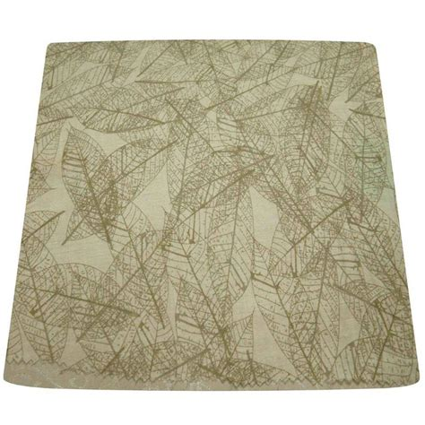 leaf pattern l shade hton bay mix match leaf patterned round accent shade