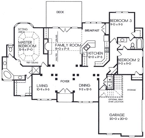 Very Open Floor Plans by Very Open Plan 2909kd 1st Floor Master Suite Cad