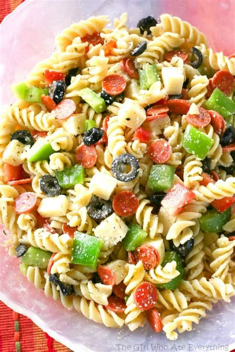 delicious pasta salad pizza pasta salad the girl who ate everything
