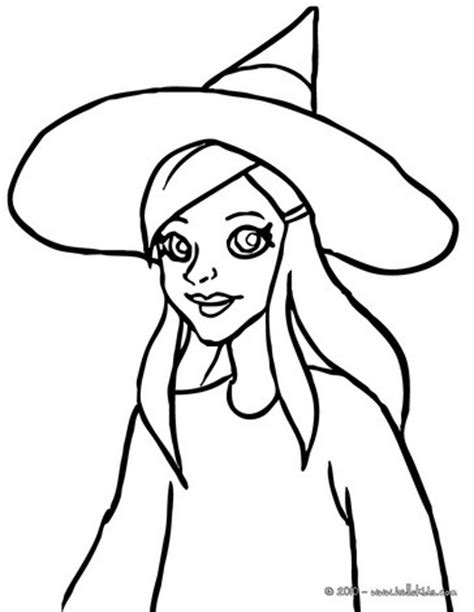 young witch face coloring pages hellokids com