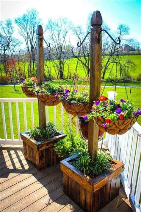 17 best ideas about hanging planters on pinterest pallet planter stands with hanging planter baskets 30