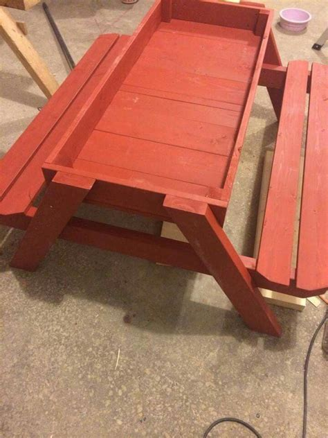 sandbox picnic table pallet projects pinterest