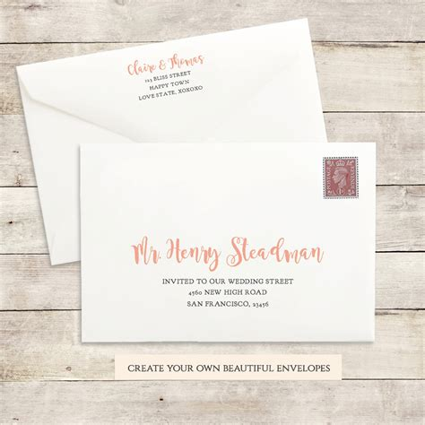 5x7 envelope template printable wedding envelope template 5x7 front and back