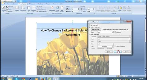 design background microsoft word how to change background color or printed watermark in ms