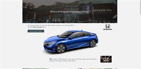 Honda Giveaway 2016 - 2016 honda stage at music festivals sweepstakes sweepstakes lovers