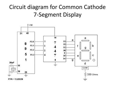 diagram common common cathode 7 segment display circuit diagram circuit