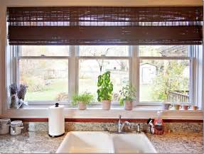 Kitchen Window Decorating Ideas by Calm Blind Color For Triple Slide Kitchen Window Ideas
