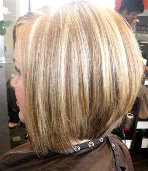graduated layered blunt cut hairstyle inverted bob haircut back view stacked bob inverted bob