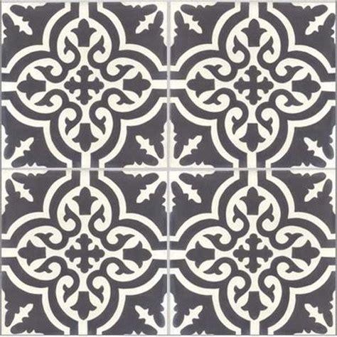 Carreaux De Ciment Blanc by Lot De 4 Carreaux De Ciment Trouville Noir Et Blanc L 20
