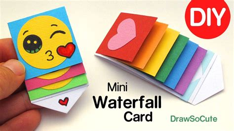 waterfall card template how to make a mini waterfall card diy easy craft