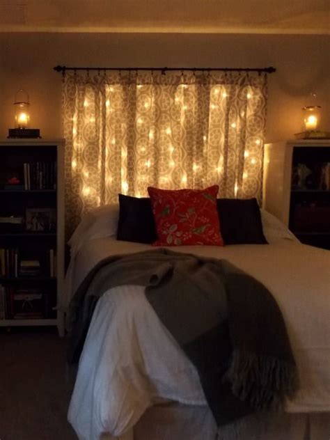 master bedroom makeover on a budget curtain lights