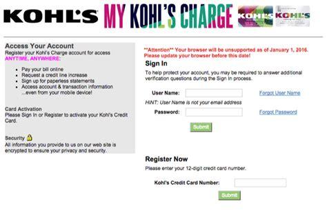 make kohls credit card payment kohl s pay credit card phone number infocard co