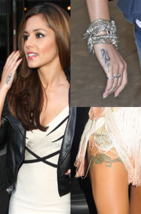 cheryl cole wrist tattoo cheryl cole with showing inspiration for