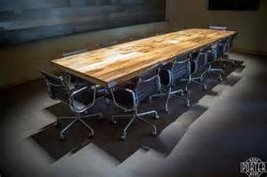 Wood Conference Table Reclaimed Wood Exchange Tobacco Barn Reclaimed Wood Conference Table