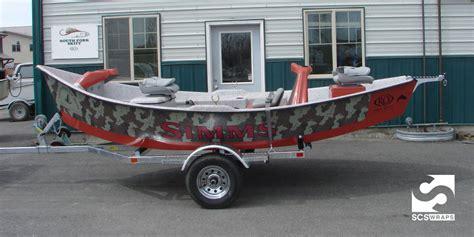 alumaweld drift boat decals simms fishing products ro drift boat custom wrap 183 scs wraps