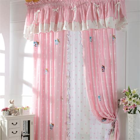 curtain ideas for little girl rooms cute patterned pink kids room curtains for little girls