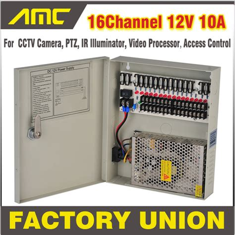 Power Supply Cctv 4 Channel Sentral Box cctv power box 16 channel 12v 10a support ptz ir illuminator access for 16ch dvr cctv