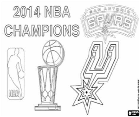 nba spurs logo coloring sheets coloring pages