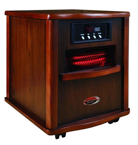 comfort zone 1500 watt infrared heater comfort furnace xl portable quartz infrared furnace 1500