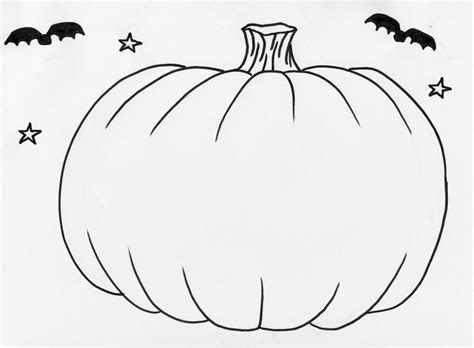 coloring pages of pumpkin pumpkin outline printable coloring home