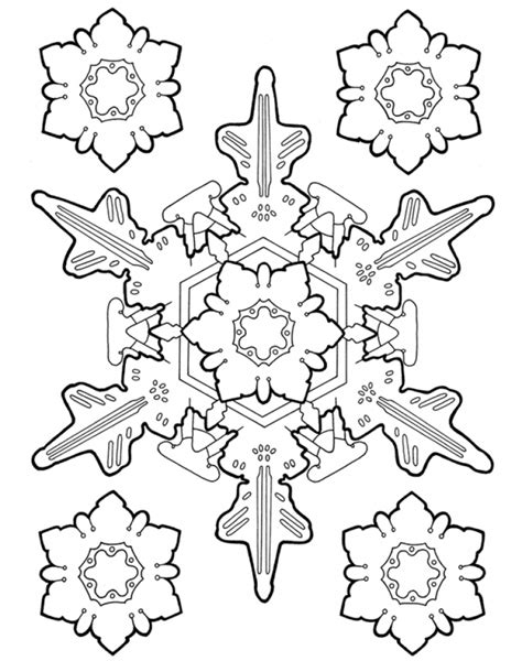 Get This Printable Snowflake Coloring Pages for Adults 36178
