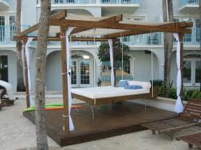 Outdoor Canopy Beds outdoor porch swing bed