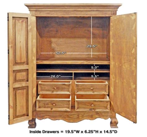 natural wood armoire rustic 2 door natural finish armoire western lodge cabin
