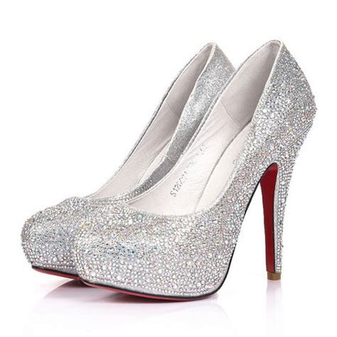 silver sparkly high heels silver high heels