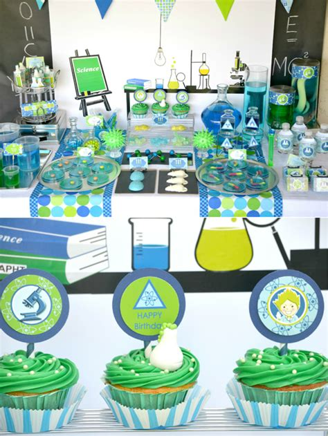 printable birthday table decorations mad scientist science birthday party ideas party ideas
