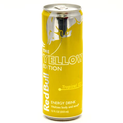 energy drink jello bull the yellow edition tropical 12fl oz