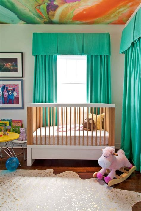 Aqua Nursery Curtains Into With Shades Of Green Project Nursery