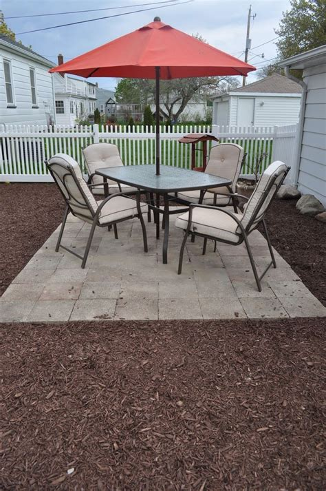 Simple Paver Patio A Simple Patio Paver Pictorial Decks Patios Porches Tree Houses Playhouses And