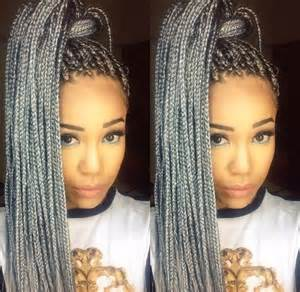 black to grey ombre box braids hairstyles grey is a fun color to add to your look yelp
