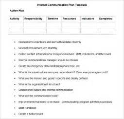 Communication Plan Template by Communication Plan Template 3 Fee Word Pdf
