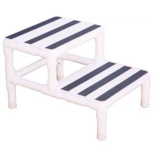 Safe Step Stool For Seniors by Step Stool Single W 1 Handrail Pvc Mri Daily Care For