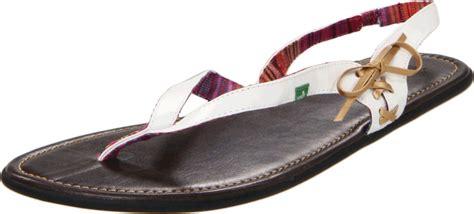 sanuk sanuk womens tell sandal in black white lyst