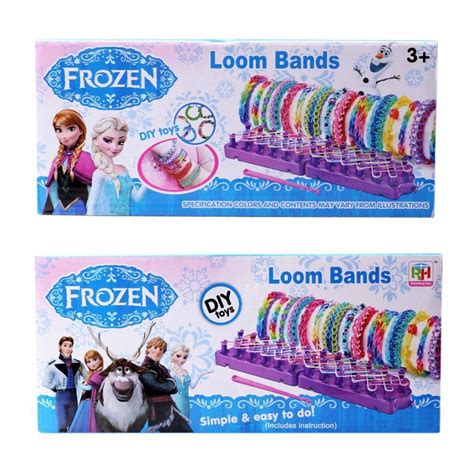 loom bands hello frozen in stock frozen colourful loom bands diy bracelets