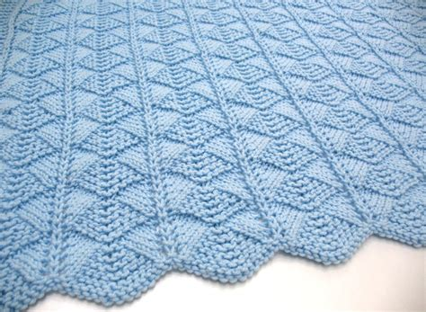 knit a baby blanket blue baby blanket knit baby blanket by sticksnstonesgifts