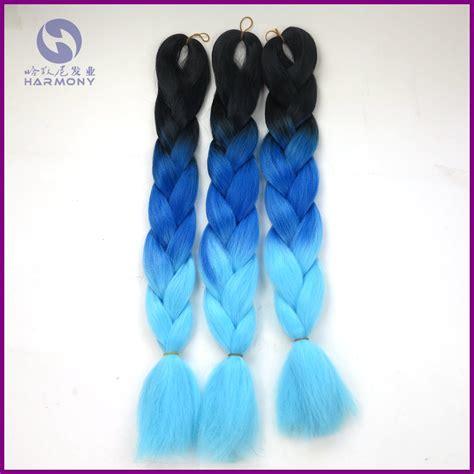 buy blue kanekolin hair buy 4packs lot synthetic braiding hair blue ombre