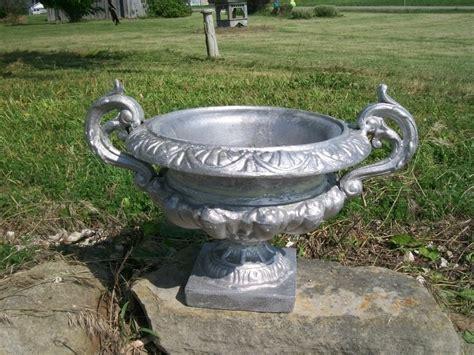Cast Aluminum Planters 10 quot mini betty cast aluminum centerpiece urn planter