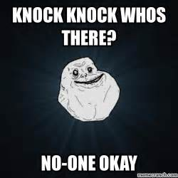 Lonely Girl Meme - generate a meme using forever alone