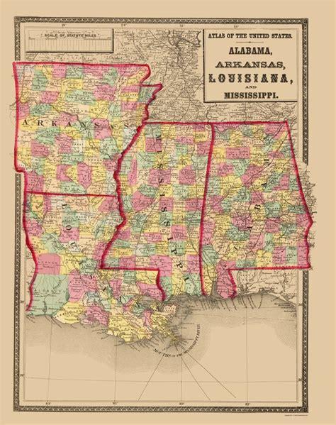 louisiana arkansas map state map alabama arkansas louisiana mississippi