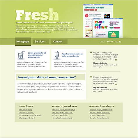 high quality free website templates 30 high quality free psd website templates to