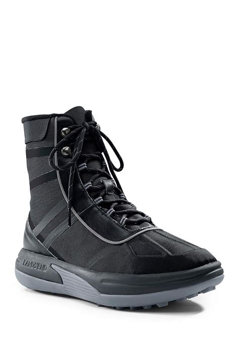lands end boots mens lands end waterproof boot in black for lyst