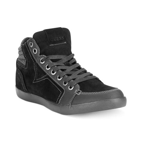 sneakers mens guess mens shoes jaque sneakers in black for lyst