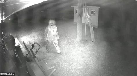 how to break in a house window creepy clown in texas armed with knife caught on cctv trying to break into house