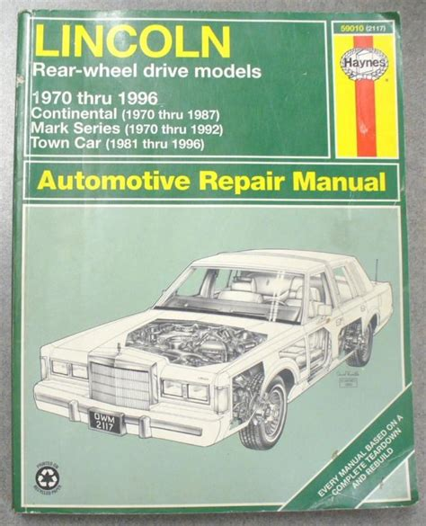 electric and cars manual 1996 lincoln continental regenerative braking buy haynes repair manual lincoln 70 96 rear wheel drive motorcycle in san bernardino california