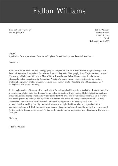 executive assistant cover letter example icover org uk